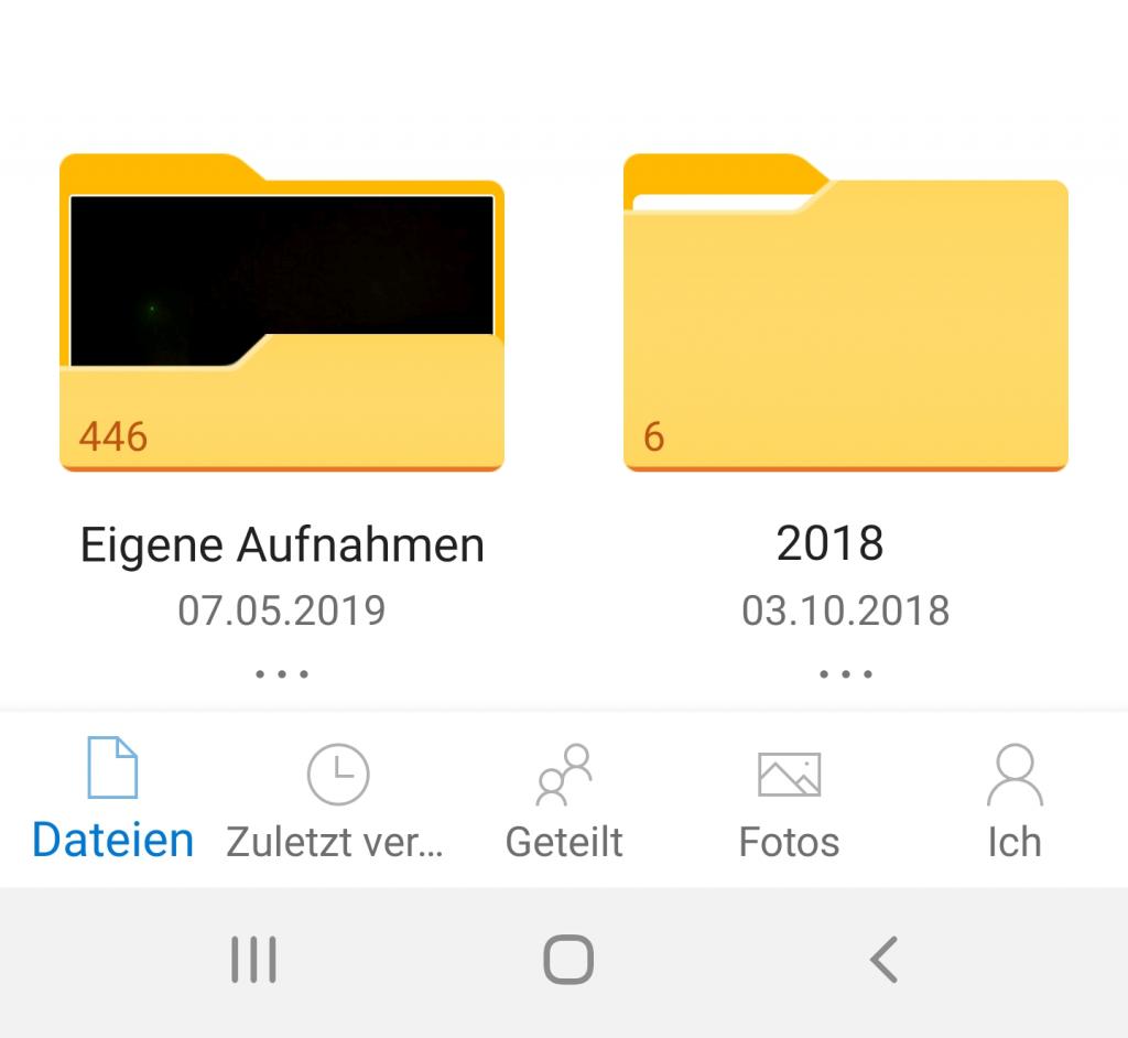 OneDrive - Eigene Aufnahmen